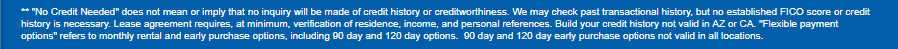 Acceptance Now credit history