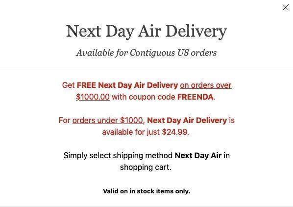 Jomashop free shipping