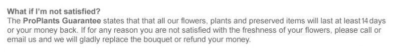 Proplants customer guarantee
