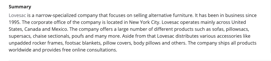 What is LoveSac?
