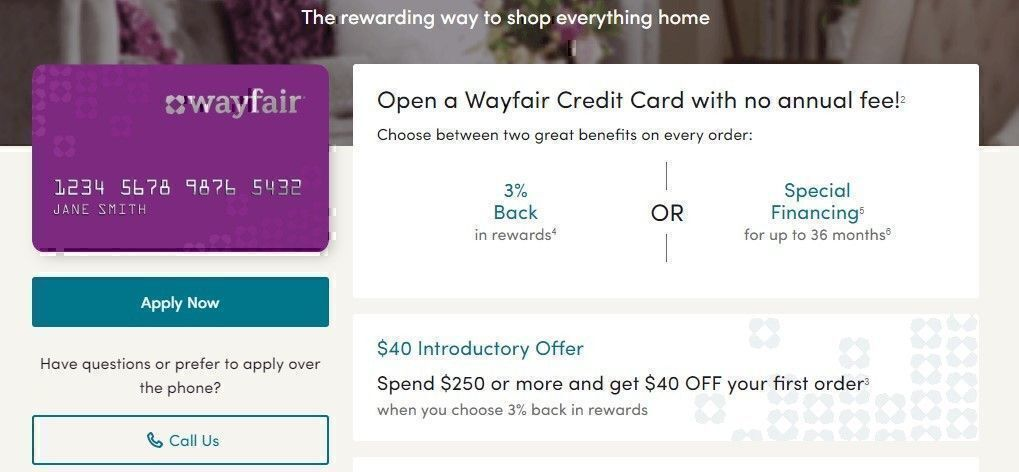 Wayfair credit services
