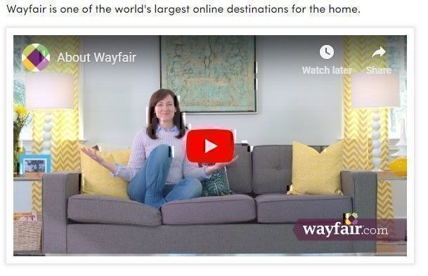 Wayfair products and services