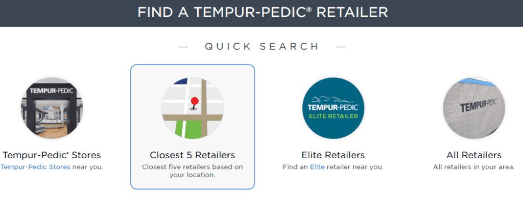 Tempur Pedic stores