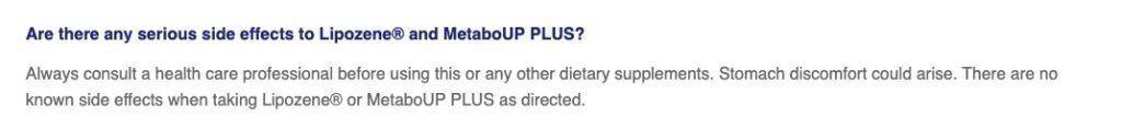 Lipozene side effects