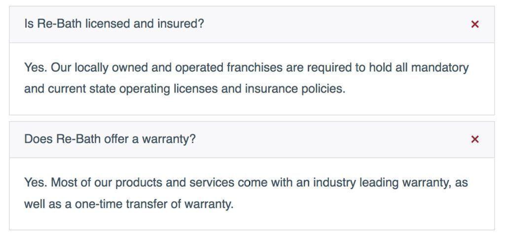 Rebath warranty policy