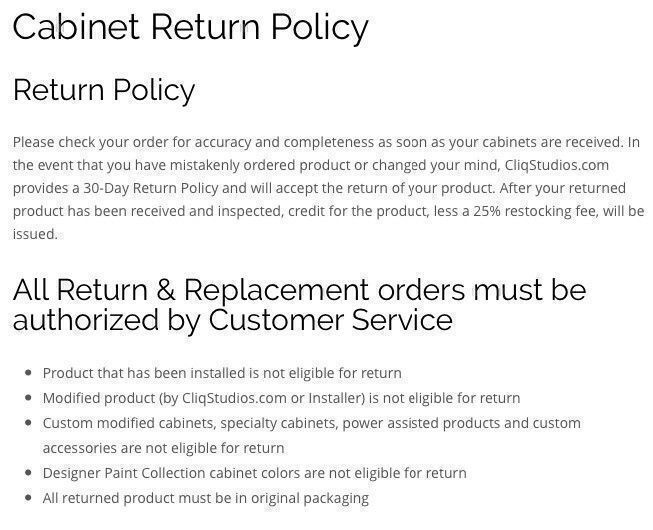 CliqStudios return policy