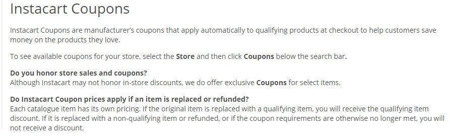 Instacart coupon code