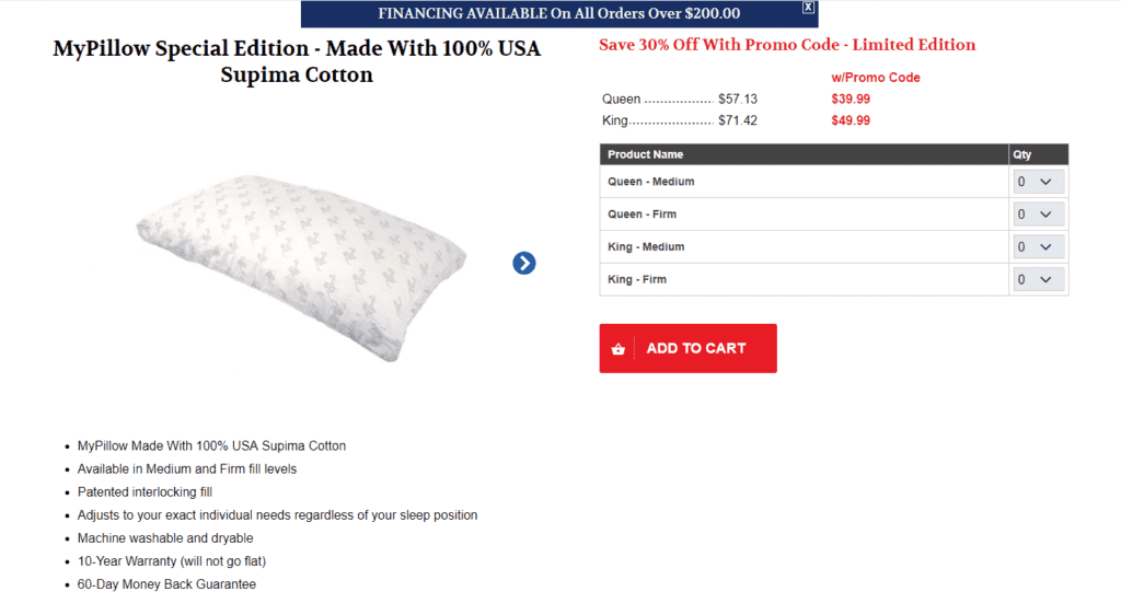 MyPillow prices