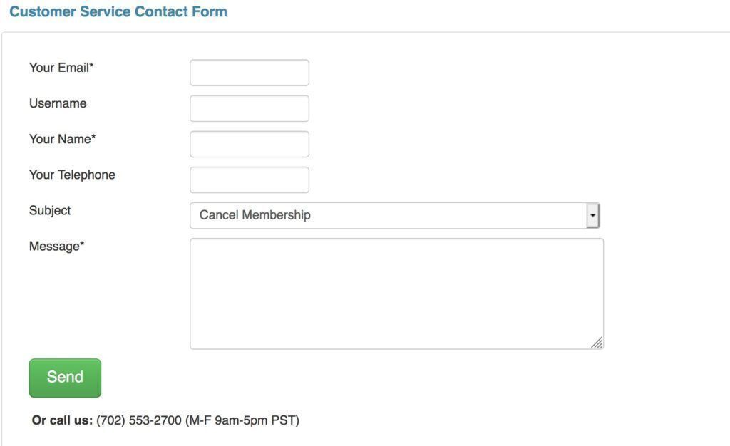 Explore Talent customer service contact form