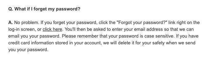 How do i reset blair password