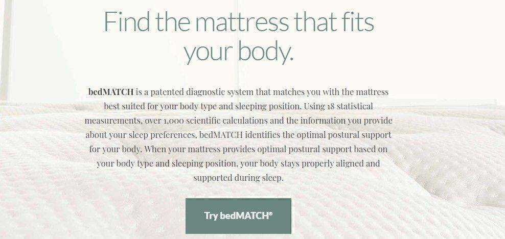Kingsdown Mattress bedMatch program