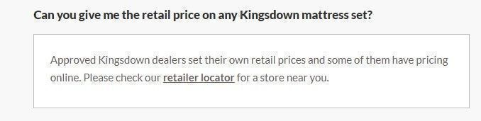 Kingsdown Mattress discounts