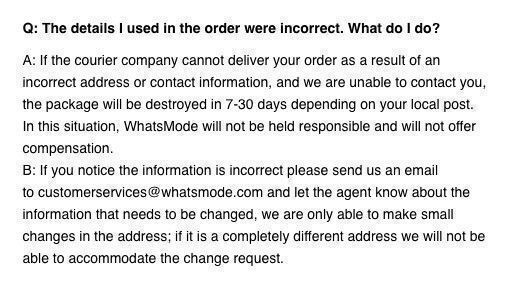 whatsmode delivery policy