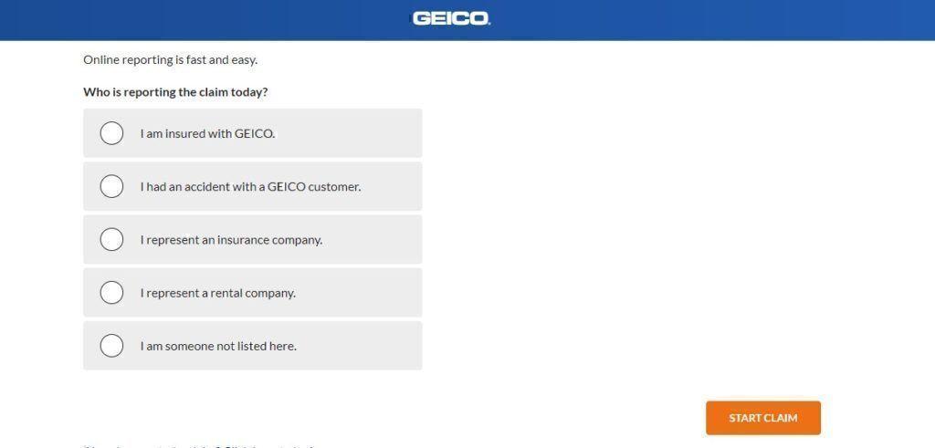 Geico report a claim