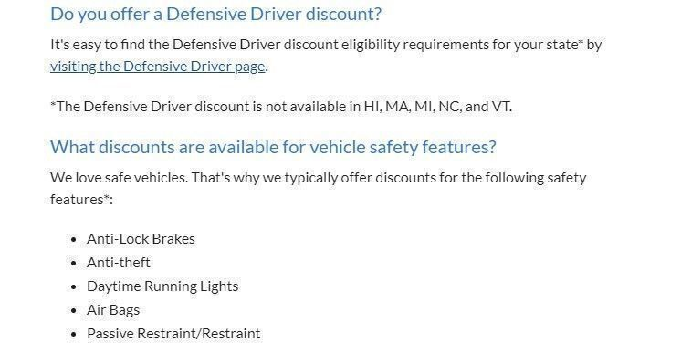 Geico discounts
