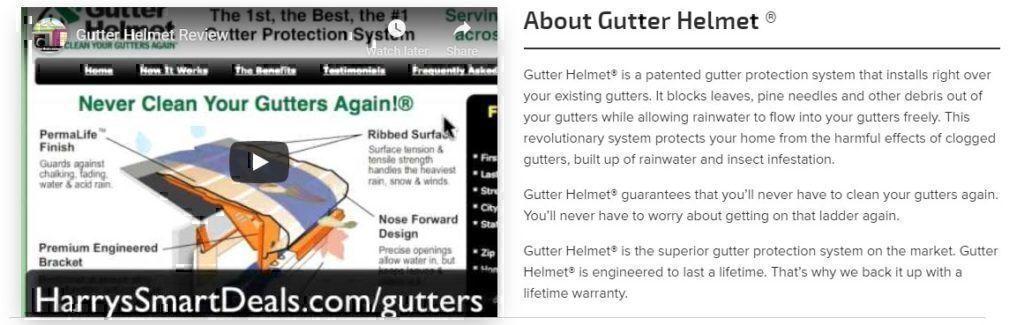 Gutter Helmet system