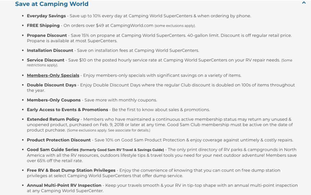 Good Sam Discount at Camping World