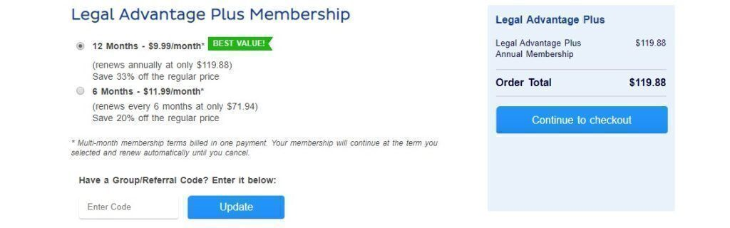 Legalzoom membership