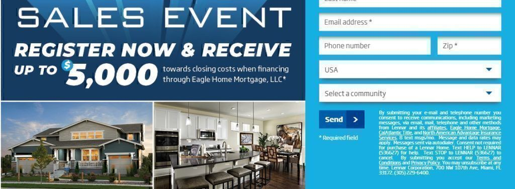 Lennar Homes promotions