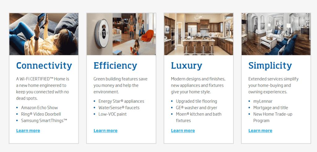 Lennar Homes features
