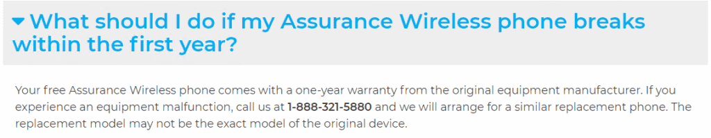 assurance wireless warranty