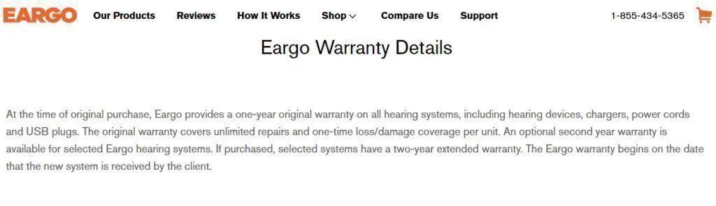 Eargo warranty policy