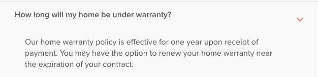 Fidelity National Home Warranty terms