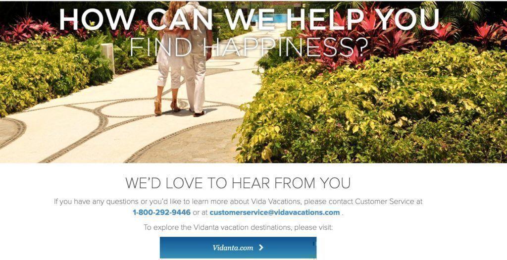 Vida Vacations customer service