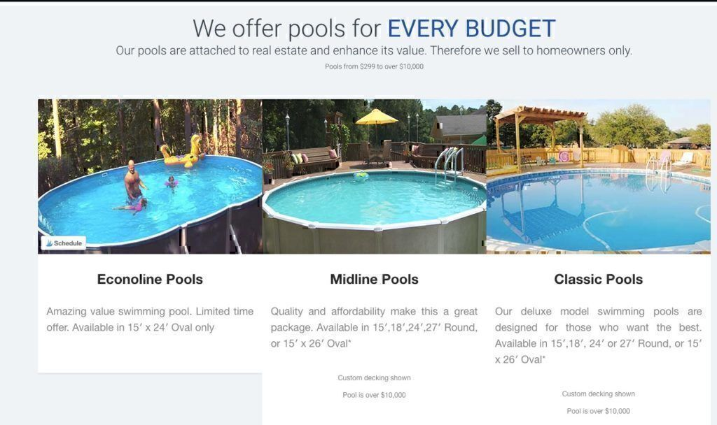 Blue World Pools prices