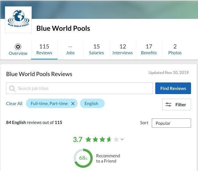 Blue World Pools reviews