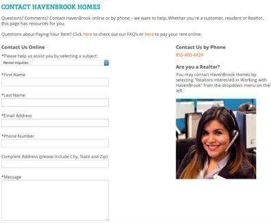 Havenbrook Homes customer service