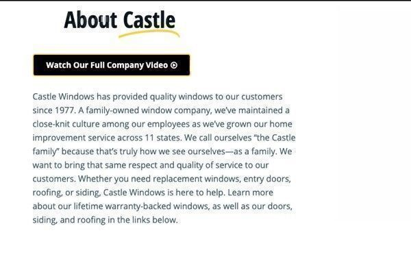 How good are Castle Windows