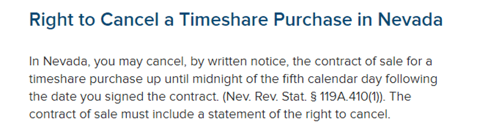 how to cancel a Sapphire Resorts timeshare