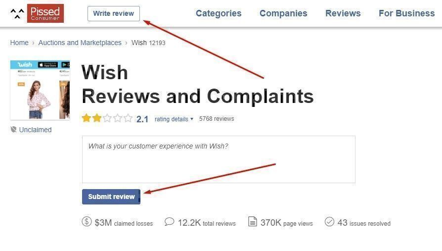 how to write a review on business