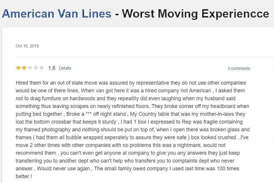 American Van Lines Review