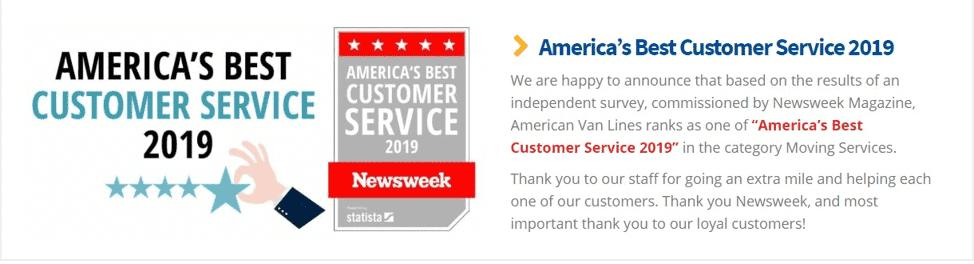American Van Lines customer service