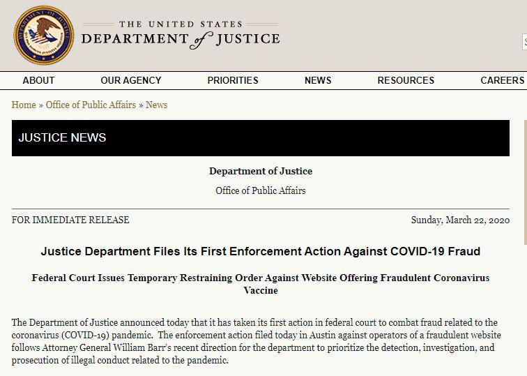 Covid -19 fraud