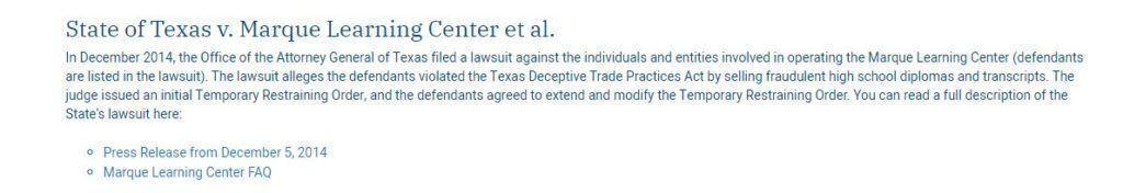 OAG of Texas civil lawsuit