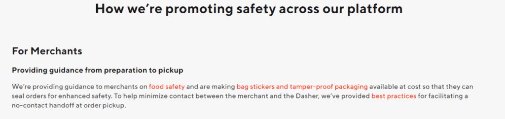 DoorDash safety promo