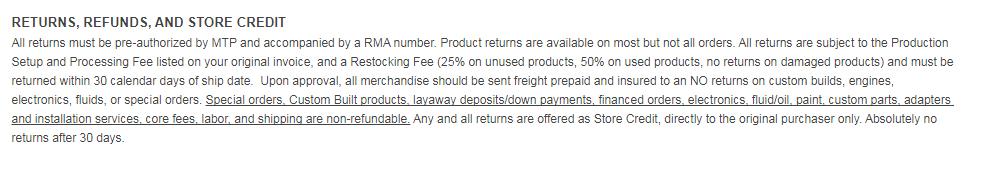Monster transmission refund policy