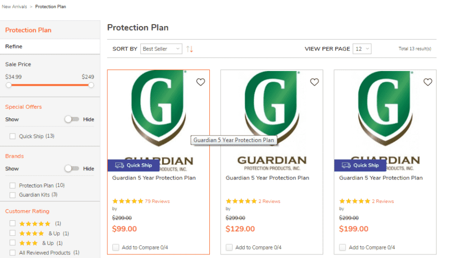 Guardian protection plans