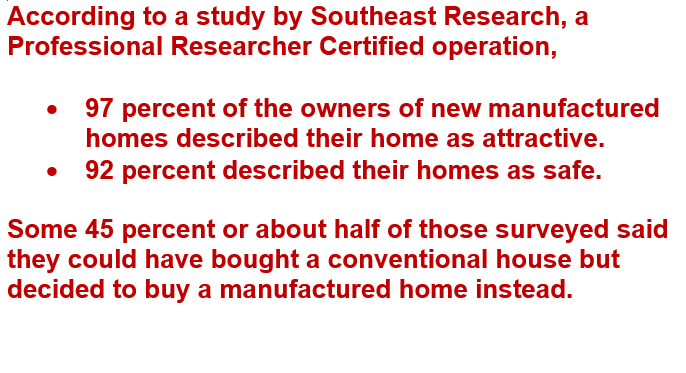 Southeast research on manufactured homes