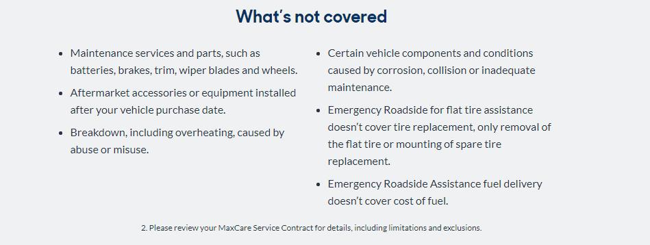 Carmax warranty limitations