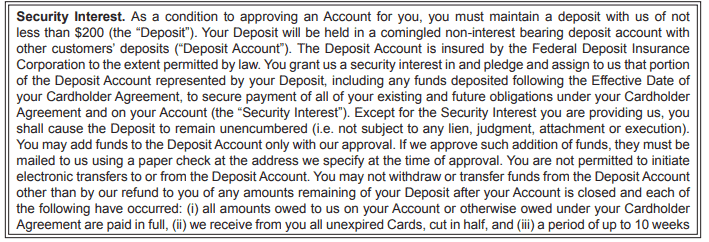 first progress deposit terms