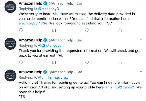 Amazon Help twitter post