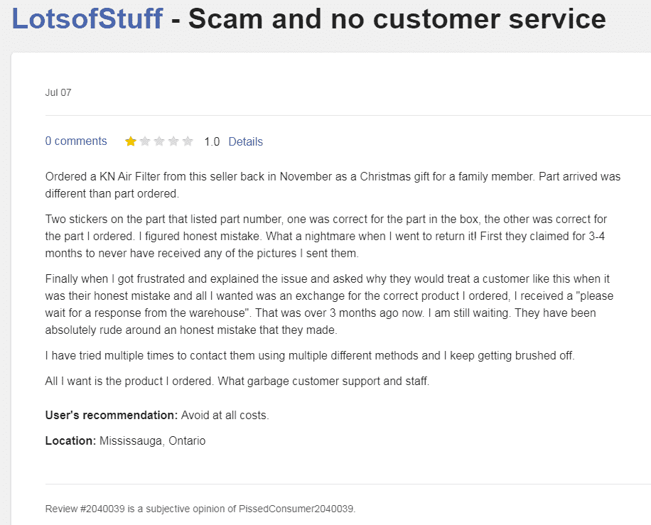 LotsofStuff Christmas scam