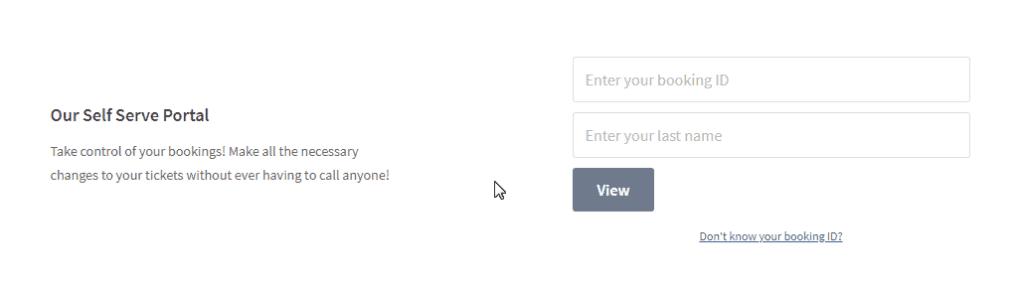 JustFly Self-Serve Portal