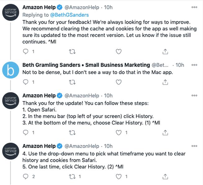 Amazon Help on Twitter