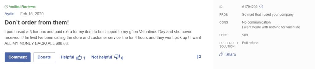 Valentine's day Eadible Arrangement review