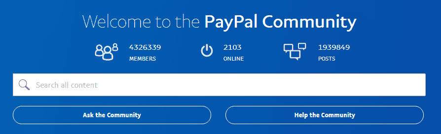 PayPal Community contacts